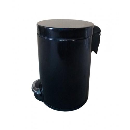 Корзина для мусора с педалью для кухни, металлическая 12 литров