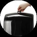 Диспенсер для бумажных полотенец BINELE zType, артикул: DT01PB