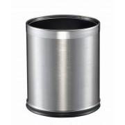 Корзина для бумаги, стальная 9 литров (матовая)