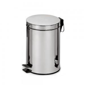 Корзина для мусора с педалью, металл 5 литров