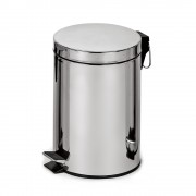 Корзина для мусора с педалью, металл 12 литров
