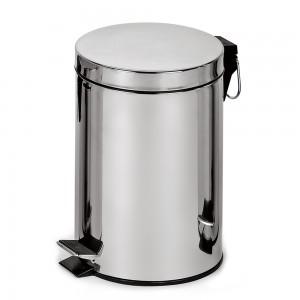 Корзина для мусора с педалью, металл 20 литров