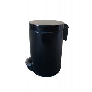 Корзина для мусора с педалью для кухни, металлическая 5 литров