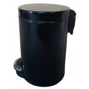 Корзина для мусора с педалью для кухни, металлическая 30 литров