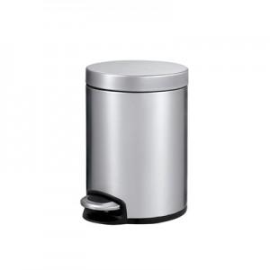 Корзина для мусора с педалью для туалета, стальная 5 литров