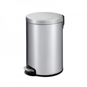 Корзина для мусора с педалью для туалета, стальная 12 литров
