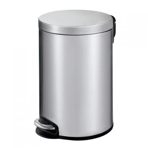 Корзина для мусора с педалью для туалета, стальная 20 литров