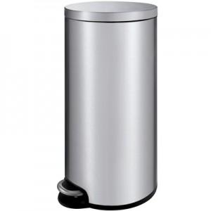 Корзина для мусора с педалью для туалета, стальная 30 литров