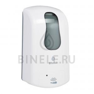 Диспенсер картриджный для жидкого мыла сенсорный, 1 литр (белый)